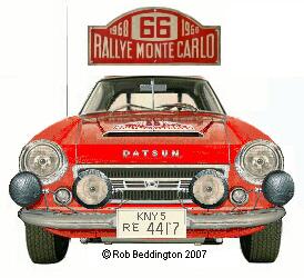Hannu Mikkola's Fairlady 2000 - Monte Carlo 1968